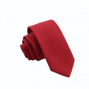 Γραβάτα Κόκκινη με Γεωμετρικό Σχέδιο 6εκ.