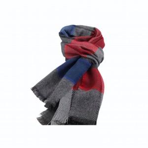Κασκόλ Καρό Γκρι/ Μπλε/ Κόκκινο