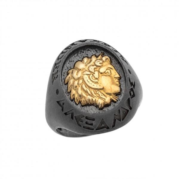 Δαχτυλίδι από Ασήμι 925° Μ. Αλέξανδρος Ασημένια Δαχτυλίδια