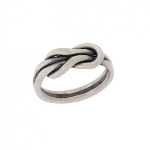 Δαχτυλίδι από Ασήμι 925° Κόμπος του Ηρακλή Ματ Oxidized Ασημένια Δαχτυλίδια