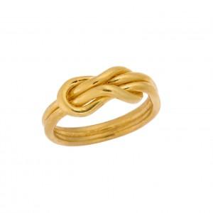 Δαχτυλίδι από Ασήμι 925° Επιχρυσωμένο Κόμπος του Ηρακλή