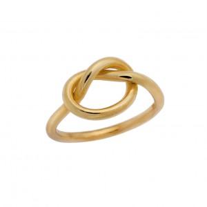Δαχτυλίδι από Ασήμι 925° Επιχρυσωμένο Καρδιά