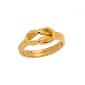 Δαχτυλίδι από Ασήμι 925° Επιχρυσωμένο Κόμπος του Ηρακλή Unisex