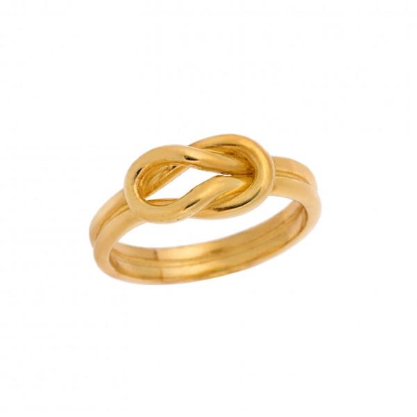 Δαχτυλίδι από Ασήμι 925° Επιχρυσωμένο Κόμπος του Ηρακλή Unisex Ασημένια Δαχτυλίδια