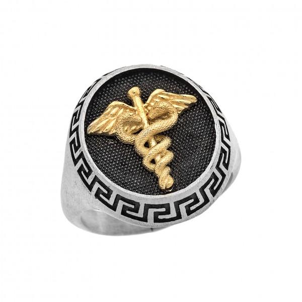 Δαχτυλίδι από Ασήμι 925° Μαίανδρος - Ιατρόσημο Ασημένια Δαχτυλίδια
