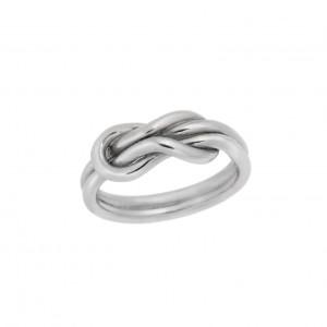 Δαχτυλίδι από Ασήμι 925° Κόμπος του Ηρακλή Επιπλατίνωμα