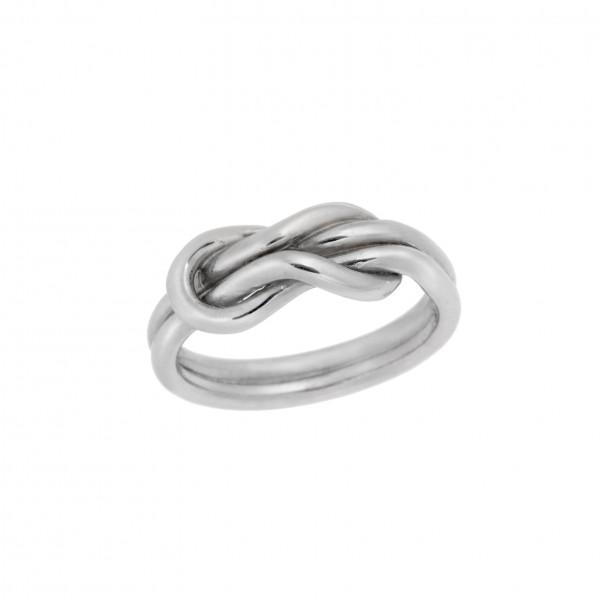Δαχτυλίδι από Ασήμι 925° Κόμπος του Ηρακλή Επιπλατίνωμα  Ασημένια Δαχτυλίδια