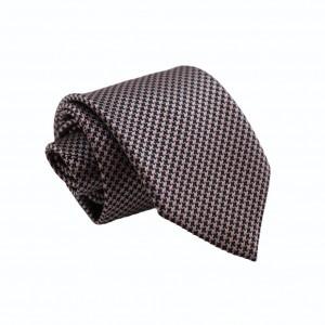 Γραβάτα Pied De Poule Black n Grey/ Red 8εκ.