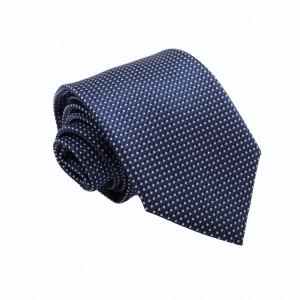 Γραβάτα Μπλε με Άσπρες Λεπτομέρειες 8εκ.