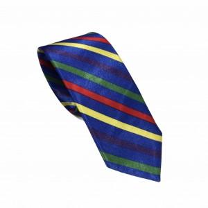 Αποκριάτικη Γραβάτα Μπλε Ριγέ 7.5εκ.