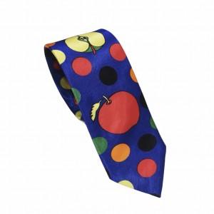 Αποκριάτικη Γραβάτα Μπλε- Kόκκινο Μήλο 7.5εκ.
