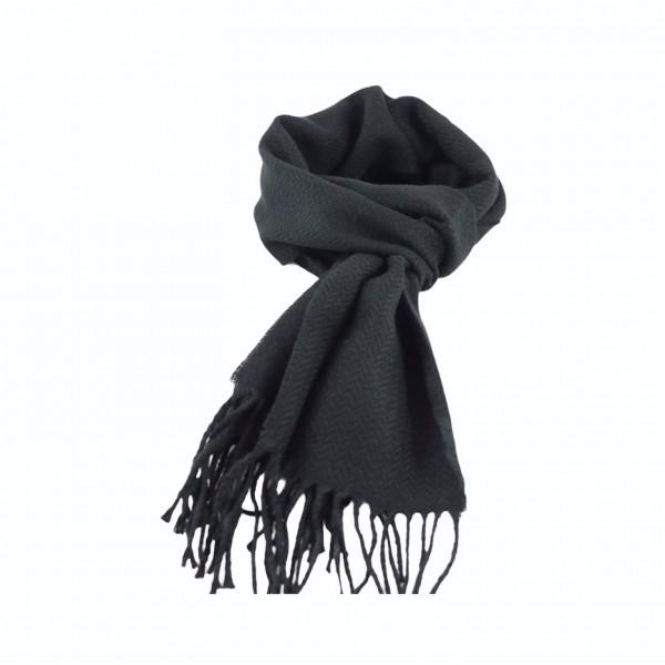 Κασκόλ Μαύρο Μονόχρωμο Ακρυλικό  Κασκόλ