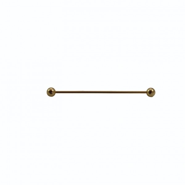 Χρυσή Καρφίτσα Πουκαμίσου Ball  Καρφίτσες / Συνδετήρες Γιακά