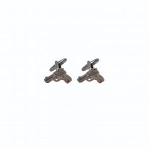 Μανικετόκουμπα Gun Silver
