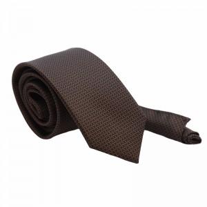 Set Γραβάτα & Μαντήλι Καφέ Details 6εκ.