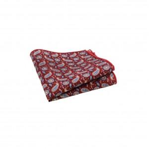 Βαμβακερό μαντήλι τσέπης Red Paisley