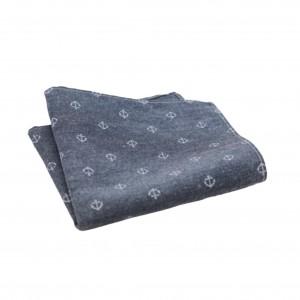 Βαμβακερό μαντήλι τσέπης Little Anchor Blue