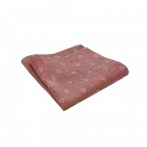 Βαμβακερό μαντήλι τσέπης Little Anchor Salmon Pink