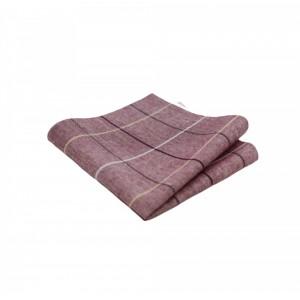 Βαμβακερό μαντήλι τσέπης Light Salmon Pink