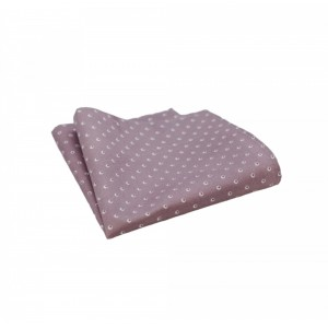 Βαμβακερό μαντήλι τσέπης Light Pink πουά