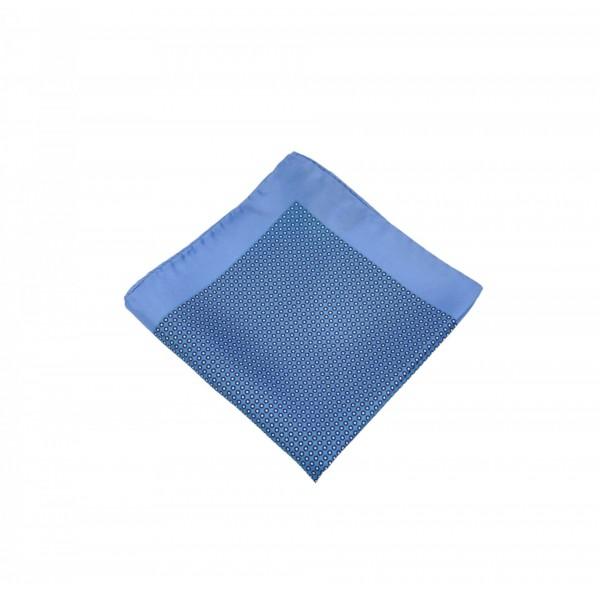 Μεταξωτό μαντήλι τσέπης Blue Color Blue Frame