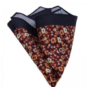 Μεταξωτό μαντήλι τσέπης μπλε floral