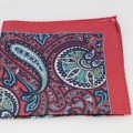 Μεταξωτό μαντήλι τσέπης Ceramic Red Paisley
