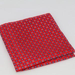 Μεταξωτό μαντήλι τσέπης Floral Red