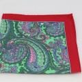 Μεταξωτό μαντήλι τσέπης Red & Green Paisley