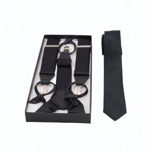 Set Τιράντες & Γραβάτα σε Μαύρο Χρώμα