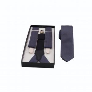 Set Τιράντες & Γραβάτα Μπλε/ Καφέ