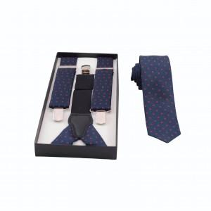Set Τιράντες & Γραβάτα Μπλε/ Κόκκινο