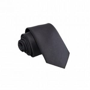 Γραβάτα Μαύρη Μονόχρωμη Slim 6εκ.