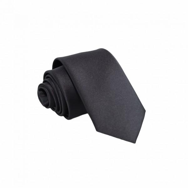 Γραβάτα Μαύρη Μονόχρωμη Slim 6εκ. Γραβάτες