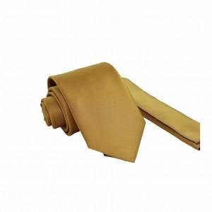 Set Γραβάτα & Μαντήλι Χρυσό Μονόχρωμο 5.5/ 7.5εκ.