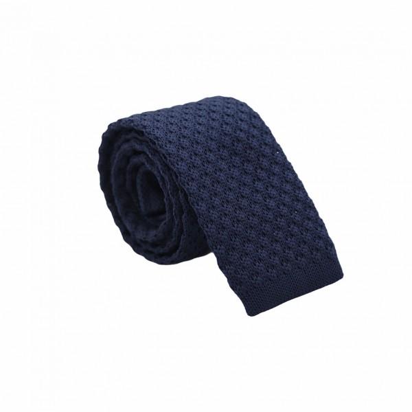 Πλεχτή Γραβάτα Μπλε Bold 5.5εκ. Γραβάτες