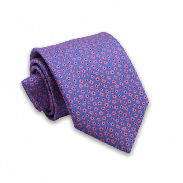 Γραβάτα Μπλε/Μωβ Floral 6εκ-8εκ. Γραβάτες