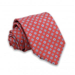 Γραβάτα Κόκκινη/Ciel Μοτίβο 6εκ-8εκ.