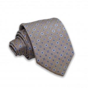 Γραβάτα Μπεζ/Ciel Μοτίβο 6εκ-8εκ.