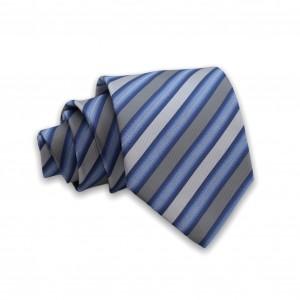 Γραβάτα Μπλε/Γκρι Ριγέ 6εκ-8εκ.