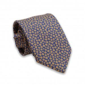 Γραβάτα Μπλε/Κίτρινο Floral 6εκ-8εκ.