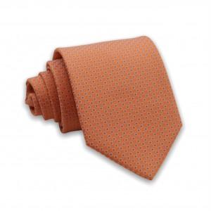 Γραβάτα Πορτοκαλί με Μοτίβο 6εκ-8εκ.