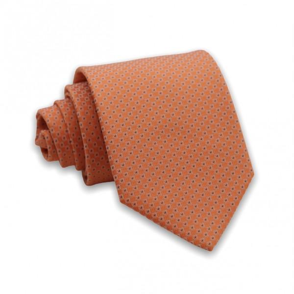 Γραβάτα Πορτοκαλί με Μοτίβο 6εκ-8εκ. Γραβάτες