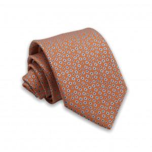 Γραβάτα Πορτοκαλί/Ασημί Floral 6εκ-8εκ.