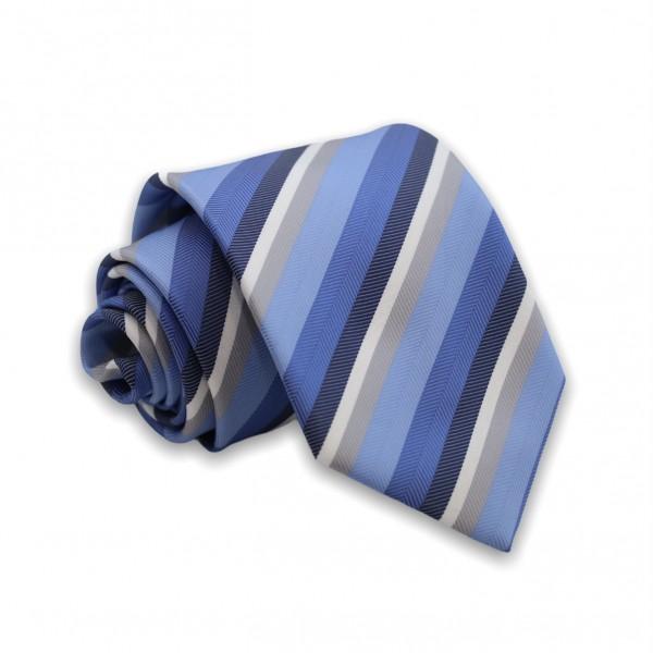 Γραβάτα Αποχρώσεις Μπλε/Γκρι Ριγέ 6εκ-8εκ. Γραβάτες