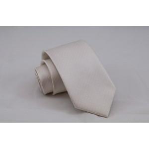 Γραβάτα Off-White με Άσπρο Πουά 7.5εκ.