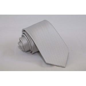 Γραβάτα Ασημί με Άσπρο Πουά 7.5εκ.