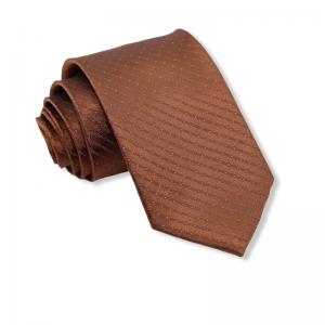 Μεταξωτή γραβάτα ανοιχτο καφέ 8εκ.