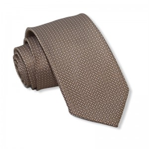 Γραβάτα Μπεζ με Σχέδιο 7.5εκ.