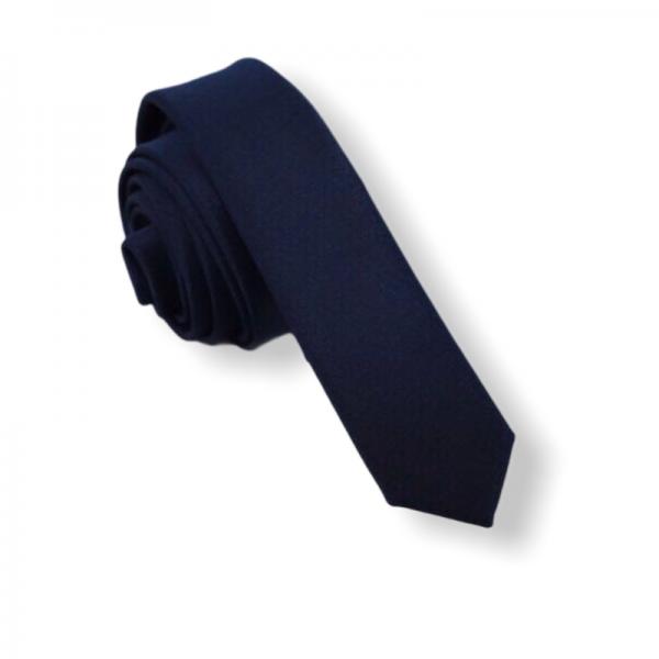 Γραβάτα Solid Blue Black 4εκ. Γραβάτες Γραβάτες - erika.gr
